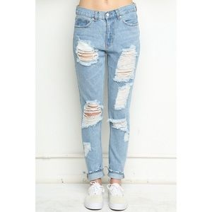 Brandy Melville Distressed Ripped Jeans Size XS